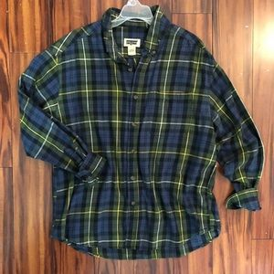 Flannel button down shirt L